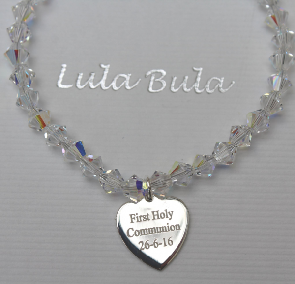 First Holy Communion personalised bracelet - FREE ENGRAVING